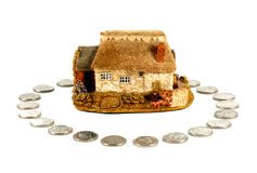 House home insurance loan mortgage Royalty Free Stock Photography
