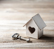 House Home Key Love Insurance Background Stock Photo