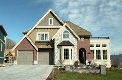 House Home New Brick Driveway Stock Photo