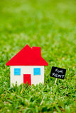 House - Home - For Rent blackboard Stock Photos