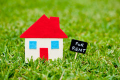 House - Home - For Rent blackboard Royalty Free Stock Photos