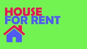 House home for rent green background vector illustration