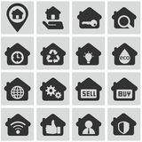House, home rental. Big house rental icon set Stock Images