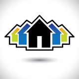 House (home) & residence sign for real estate Royalty Free Stock Photography