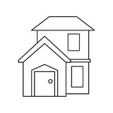 House home residential style modern outline. Vector illustration eps 10 Stock Photos