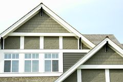 House Home Roof peaks Siding  Stock Image