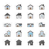 House and Home Set Of Building Color Icon Style Colorful Flat Icons Stock Photo