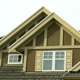 House Home Stucco Siding Peaks Royalty Free Stock Photos