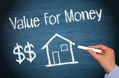 House or home with text - Value for Money stock photos