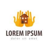House, hostel vector logo design template Royalty Free Stock Photos
