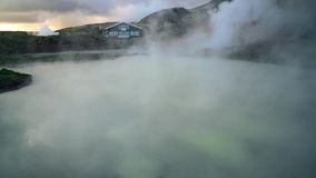 House Beside a Hot Springs in Iceland