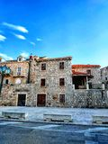 House in Omiš stock photography