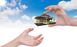 The house in human hand. Stock Photography