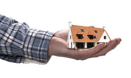 The house in human hand Stock Photography