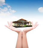 House in human hand Royalty Free Stock Image