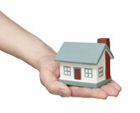 The house in human hands Stock Photography