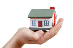 House in human hands Royalty Free Stock Photo