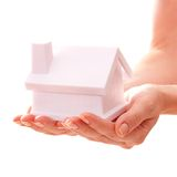 The house in human hands Royalty Free Stock Images