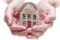 House in human hands Royalty Free Stock Images