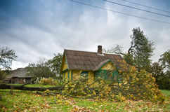 House after hurricane. Save house after hurricane damage stock photos
