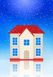 The house on the ice under the snow Stock Photography