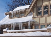 House with icicles Stock Photography