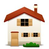 House icon. An illustration of an house on a white background Royalty Free Stock Photo