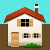 House icon. An illustration of an house on a white background Royalty Free Stock Image