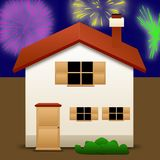 House icon. An illustration of an house on a white background Stock Photography