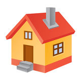 House icon. Three dimensional house icon on white background Royalty Free Stock Images
