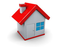 House icon. 3d illustration of house symbol or icon over white background Royalty Free Stock Image