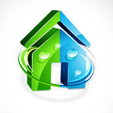 House icon. An illustrated house icon or symbol Royalty Free Stock Image