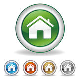House icon. Isolated a white background Royalty Free Stock Photography