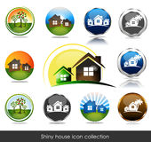 House icon. Shiny house icon collection. Isolated white background Stock Image