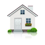 House icon. Vector illustration of cool detailed house icon  on white background Stock Photography
