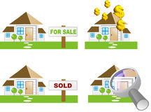House icon. Various house icons (property icon Royalty Free Stock Photography