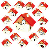 House icon. With many expressions Royalty Free Stock Photos
