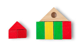 House icon. Isolated on white with shadow (clipping path Stock Photo