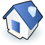 House icon. An illustration of a house to be used as a symbol or icon Stock Photos
