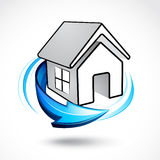 House icon with arrow Royalty Free Stock Photos
