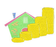 House icon as concept related to real state bussin Royalty Free Stock Image