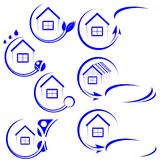 House icon. Blue. Vector illustration Royalty Free Illustration
