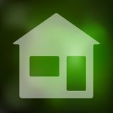 House icon on blurred background Stock Photography