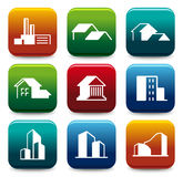 House icon collection Royalty Free Stock Photo