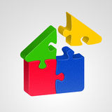 House icon, combined from pazzles Stock Photo