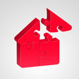 House icon, combined from pazzles Royalty Free Stock Photos