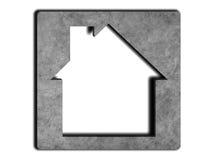 House icon on concrete background Stock Photos