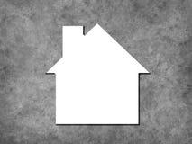 House icon on concrete background Stock Photo