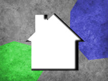 House icon on concrete background Stock Photography