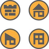 House icon. Design house for logo or icon Royalty Free Stock Image
